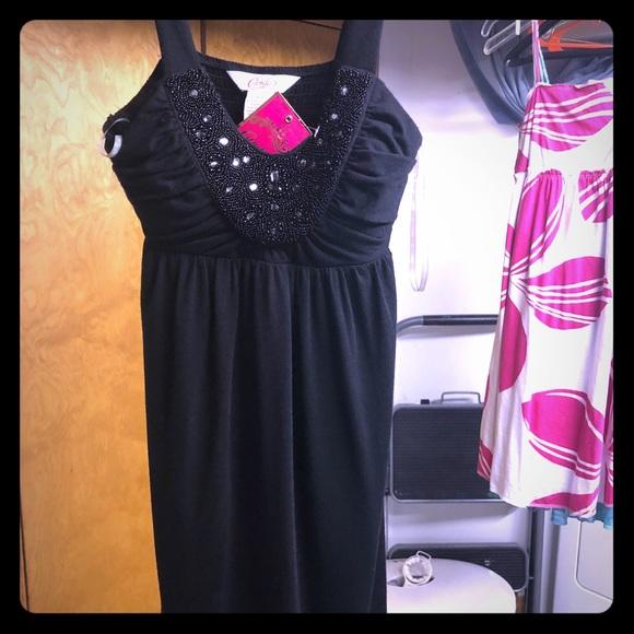 W WHITE Pink Black Party Dresses